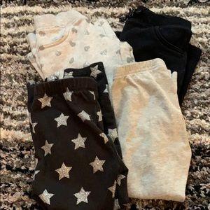 4 pairs of 4T pants, 2 leggings and 2 sweatpants